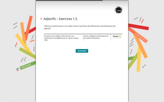 Ressource Externe : Adjectifs – Exercices 1.5