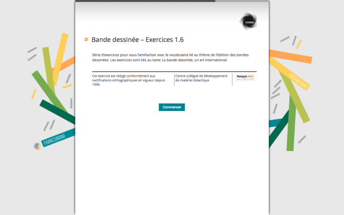 Ressource Externe : Bande dessinée – Exercices 1.6