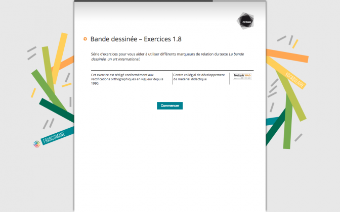 Ressource Externe : Bande dessinée – Exercices 1.8