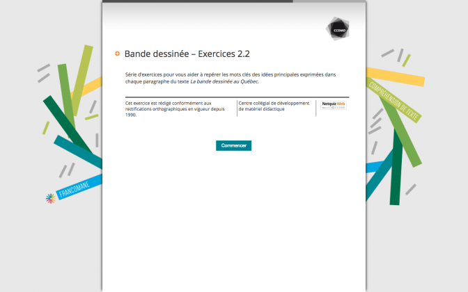 Ressource Externe : Bande dessinée – Exercices 2.2