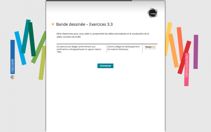 Ressource Externe : Bande dessinée – Exercices 3.3