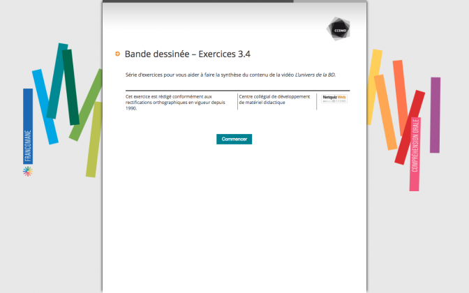 Ressource Externe : Bande dessinée – Exercices 3.4
