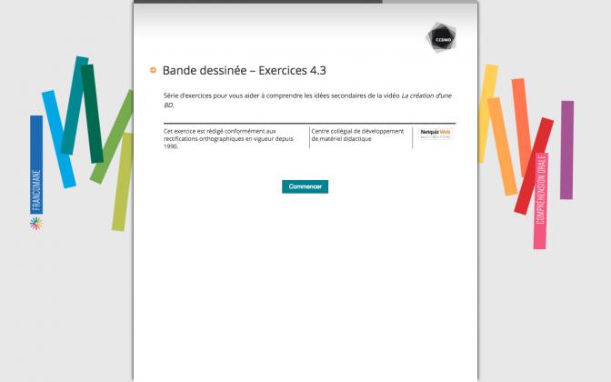 Ressource Externe : Bande dessinée – Exercices 4.3