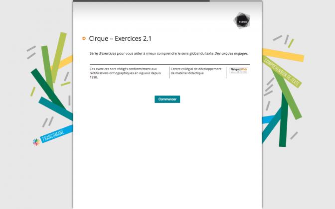 Ressource Externe : Cirque – Exercices 2.1