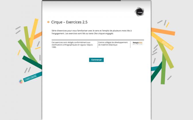 Ressource Externe : Cirque – Exercices 2.5