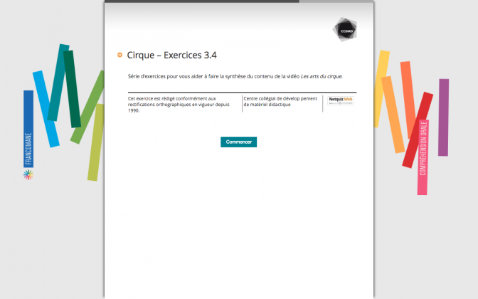 Ressource Externe : Cirque – Exercices 3.4
