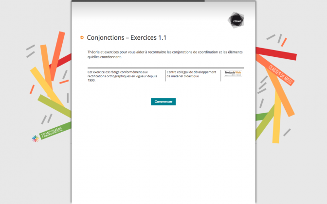 Ressource Externe : Conjonctions – Exercices 1.1