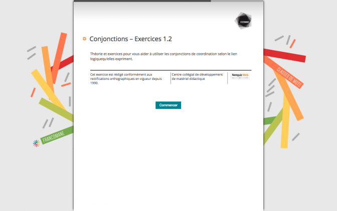 Ressource Externe : Conjonctions – Exercices 1.2