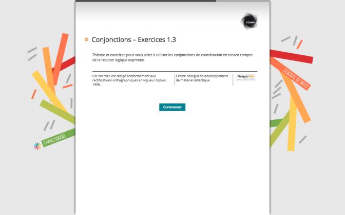 Ressource Externe : Conjonctions – Exercices 1.3