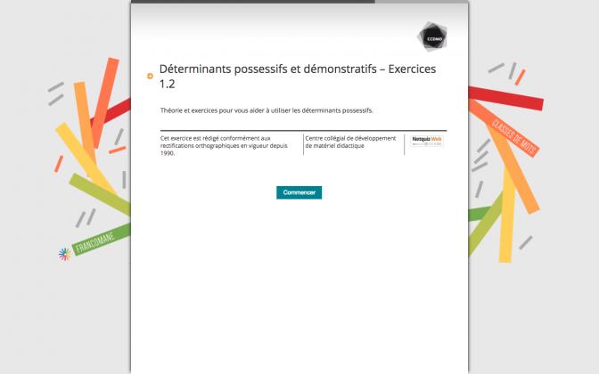 Ressource Externe : Déterminants possessifs et démonstratifs – Exercices 1.2
