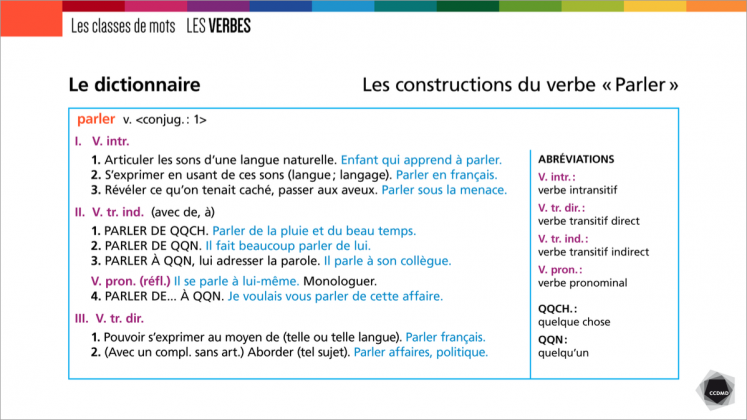 Document : Verbes – Tableau 2