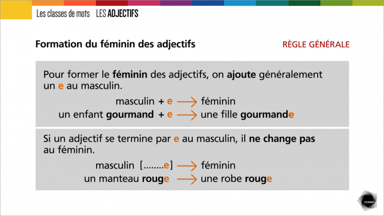 Document : Adjectifs – Tableau 1
