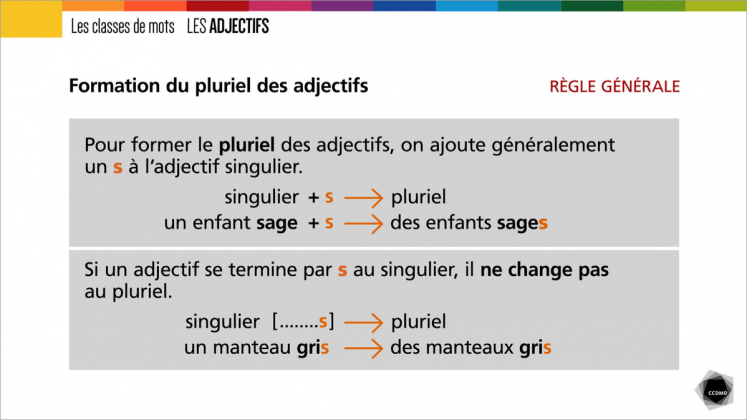 Document : Adjectifs – Tableau 3