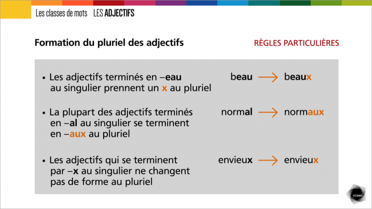 Document : Adjectifs – Tableau 4