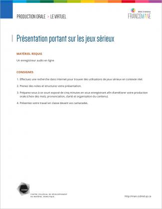 Document : Virtuel – Production orale