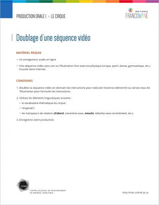 Document : Cirque – Production orale 1