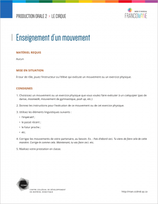 Document : Cirque – Production orale 2