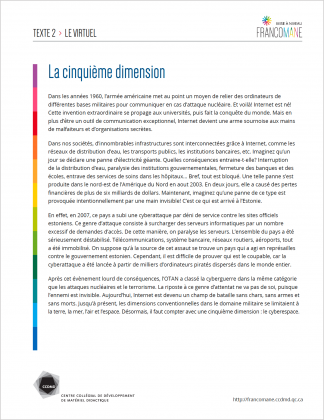 Document : Virtuel – Texte 2