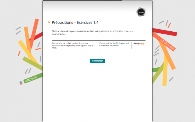 Ressource Externe : Prépositions – Exercices 1.4