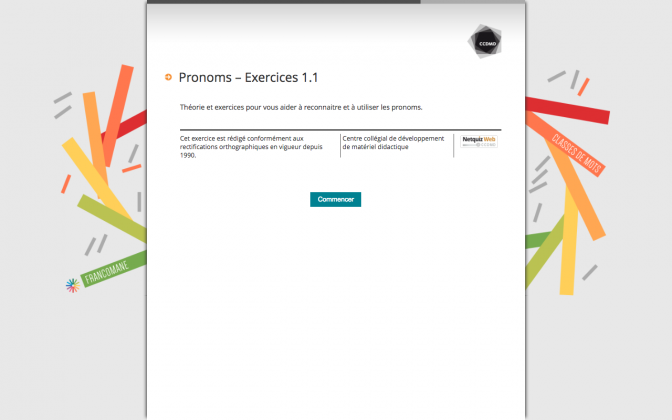 Ressource Externe : Pronoms – Exercices 1.1
