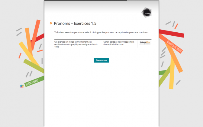 Ressource Externe : Pronoms – Exercices 1.5