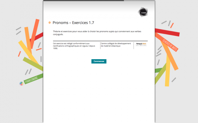 Ressource Externe : Pronoms – Exercices 1.7