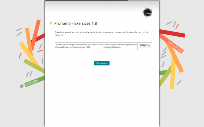 Ressource Externe : Pronoms – Exercices 1.8