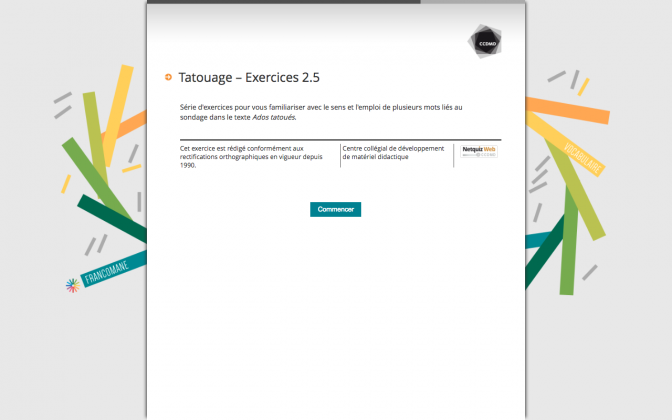 Ressource Externe : Tatouage – Exercices 2.5