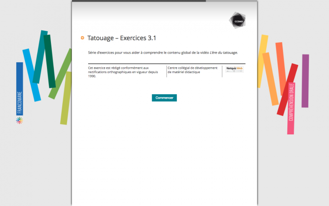 Ressource Externe : Tatouage – Exercices 3.1