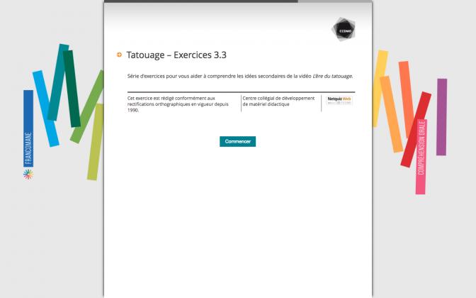 Ressource Externe : Tatouage – Exercices 3.3