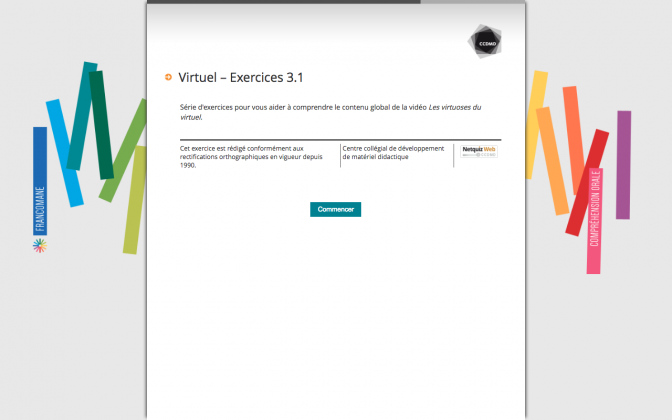 Ressource Externe : Virtuel – Exercices 3.1